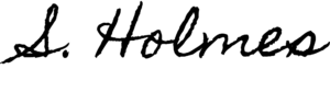 Sherlock Holmes signature